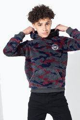 HYPE CAMO SHERPA KIDS PULLOVER HOODIE