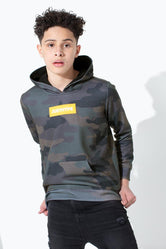 HYPE CAMO BOX LOGO KIDS PULLOVER HOODIE