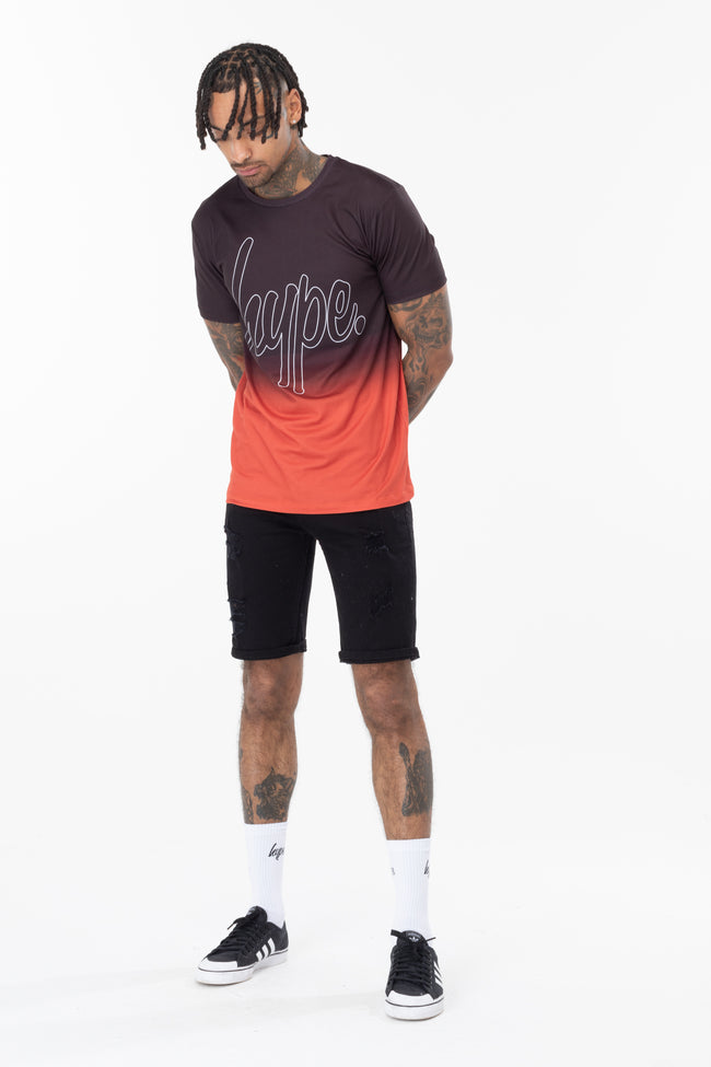 HYPE RED FADE MEN'S T-SHIRT