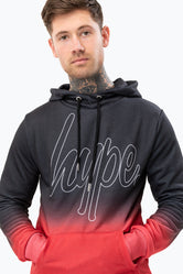 HYPE RED FADE SCRIPT MEN'S PULLOVER HOODIE