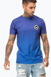 HYPE BLUE SPECKLE FADE CREST MEN'S T-SHIRT