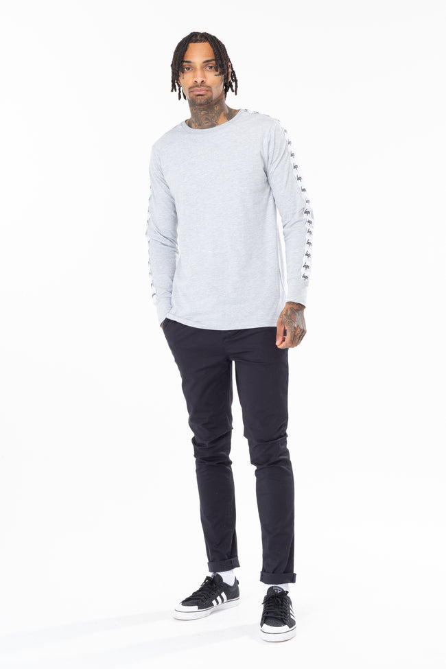 HYPE GREY TAPE SLEEVE MEN'S L/S T-SHIRT