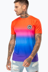 HYPE RED RAINBOW FADE MEN'S T-SHIRT