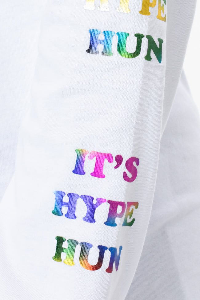 HYPE WHITE HUN WOMEN'S L/S T-SHIRT