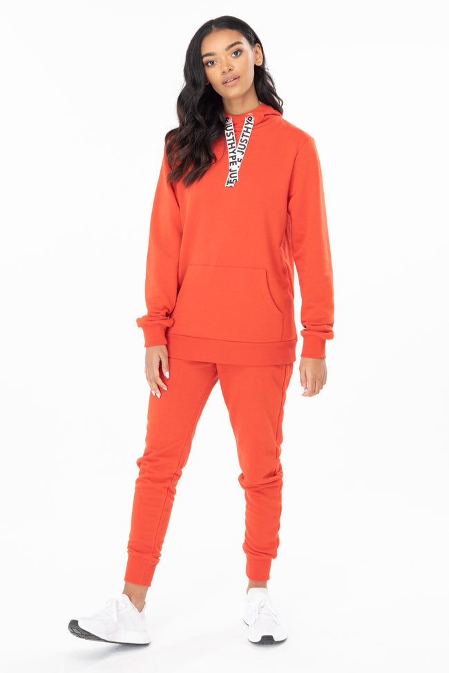 HYPE RED DRAWSTRING WOMEN'S JOGGERS