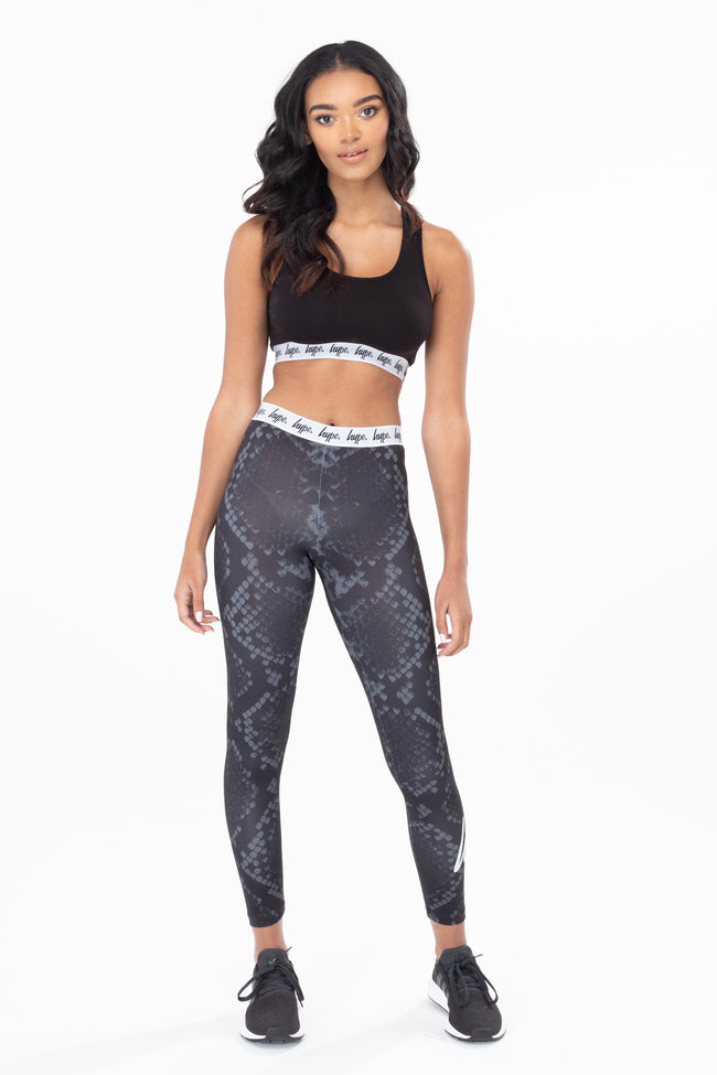 HYPE BLACK SNAKE WOMEN'S LEGGINGS