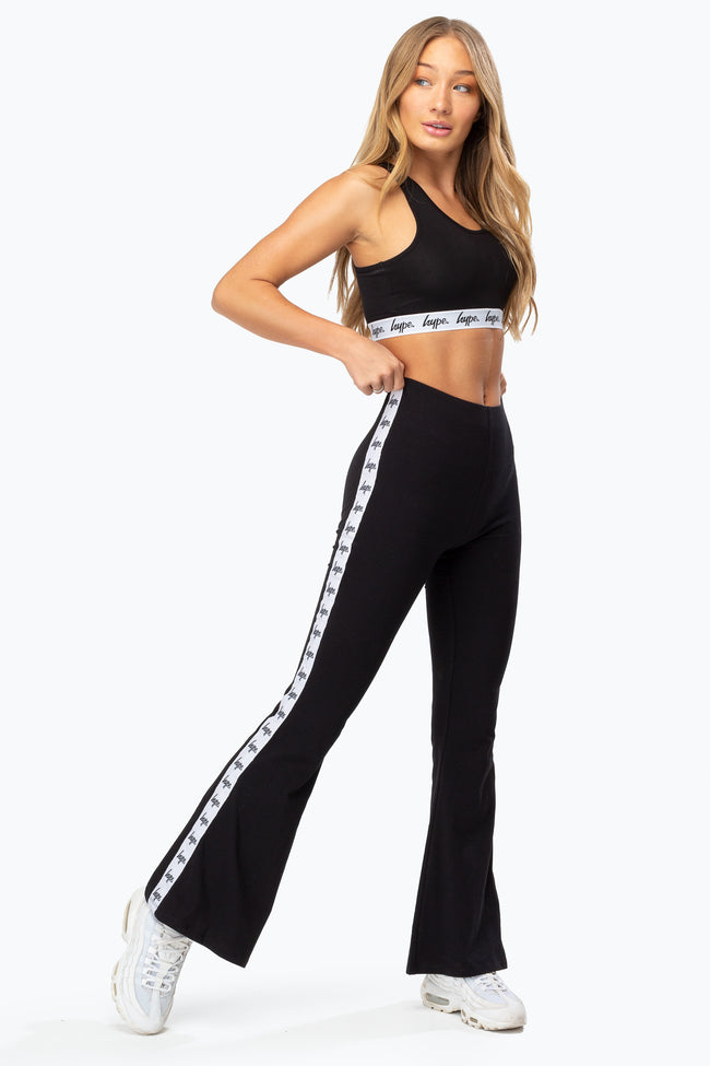 HYPE BLACK TAPE WOMEN'S FLARE TROUSERS