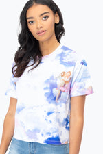 HYPE CHERUB SKY WOMEN'S CROP T-SHIRT
