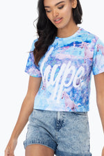 HYPE UNICORN DREAM WOMEN'S CROP T-SHIRT