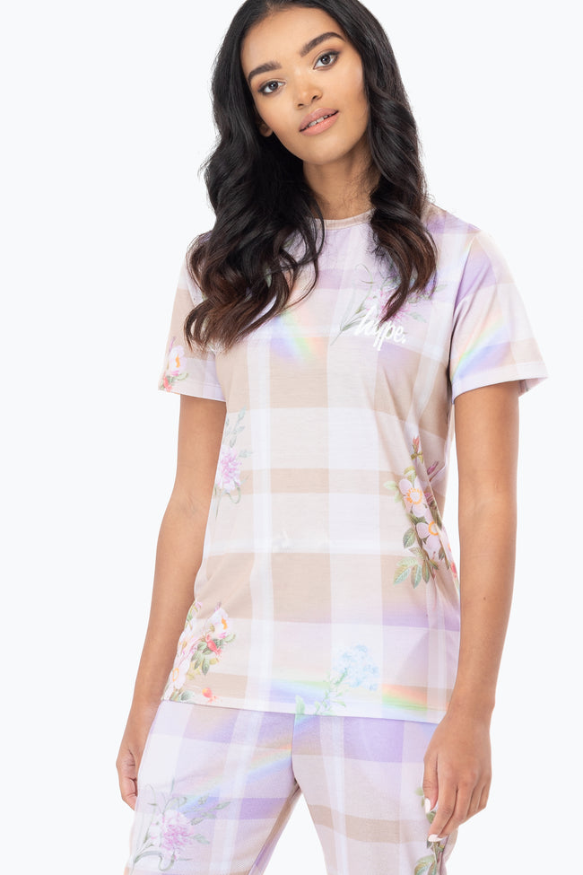HYPE DREAM CHECK WOMEN'S T-SHIRT