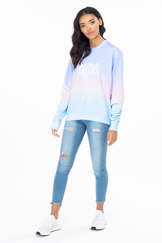 HYPE FAIRGROUND FADE WOMEN'S CREW NECK