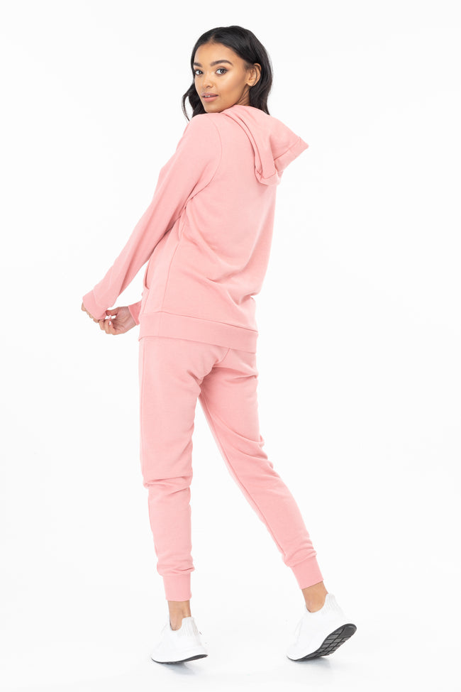 HYPE PINK DRAWSTRING WOMEN'S PULLOVER HOODIE
