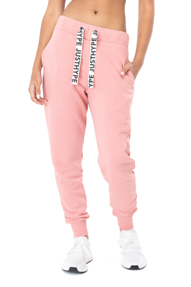 HYPE PINK DRAWSTRING WOMEN'S JOGGERS