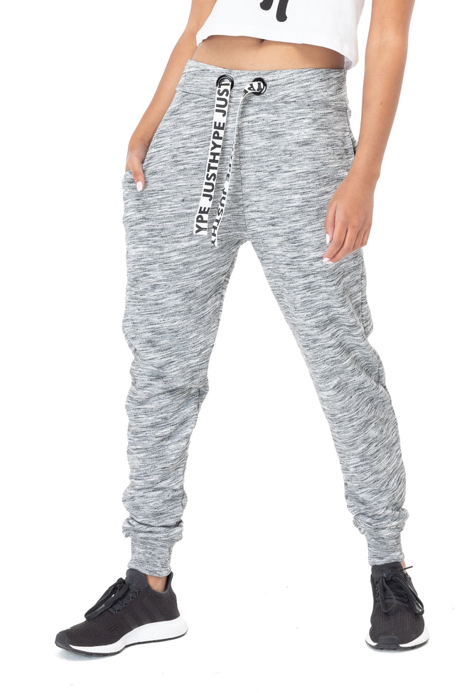 HYPE GREY DRAWSTRING WOMEN'S JOGGERS