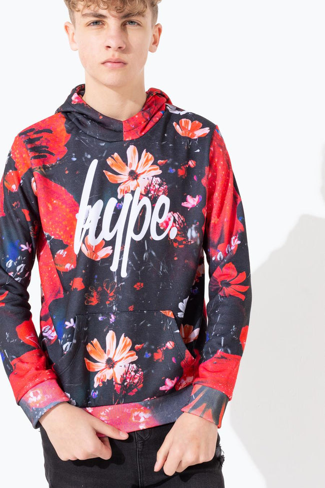 HYPE FLORAL STORM KIDS PULLOVER HOODIE