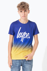 HYPE BLUE MANGO SPECKLE FADE KIDS T-SHIRT