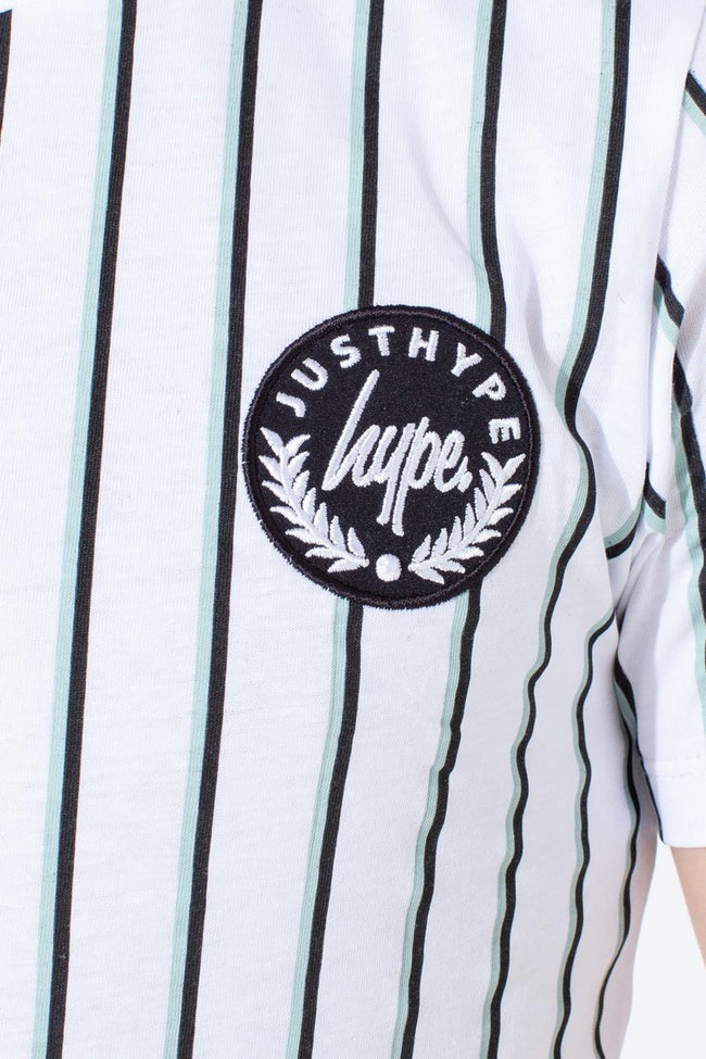 HYPE OLIVE STRIPE KIDS T-SHIRT