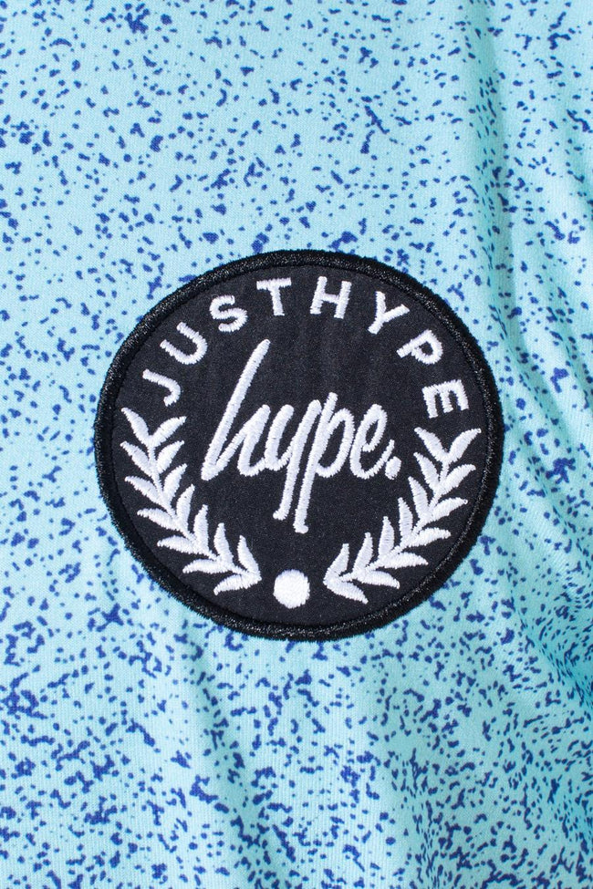 HYPE MINT BLUE SPECKLE FADE KIDS T-SHIRT