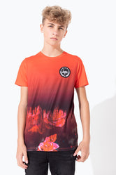 HYPE RED DRIPPING ROSE KIDS T-SHIRT