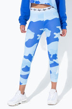HYPE BLUE CAMO KIDS LEGGINGS