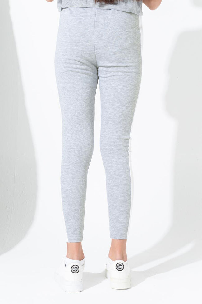 HYPE GREY SIDE STRIPE SKINNY KIDS JOGGERS