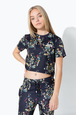 HYPE DITSY FLORAL KIDS CROP T-SHIRT