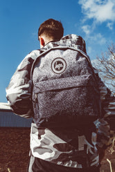HYPE BLACK WHITE SPECKLE FADE BACKPACK