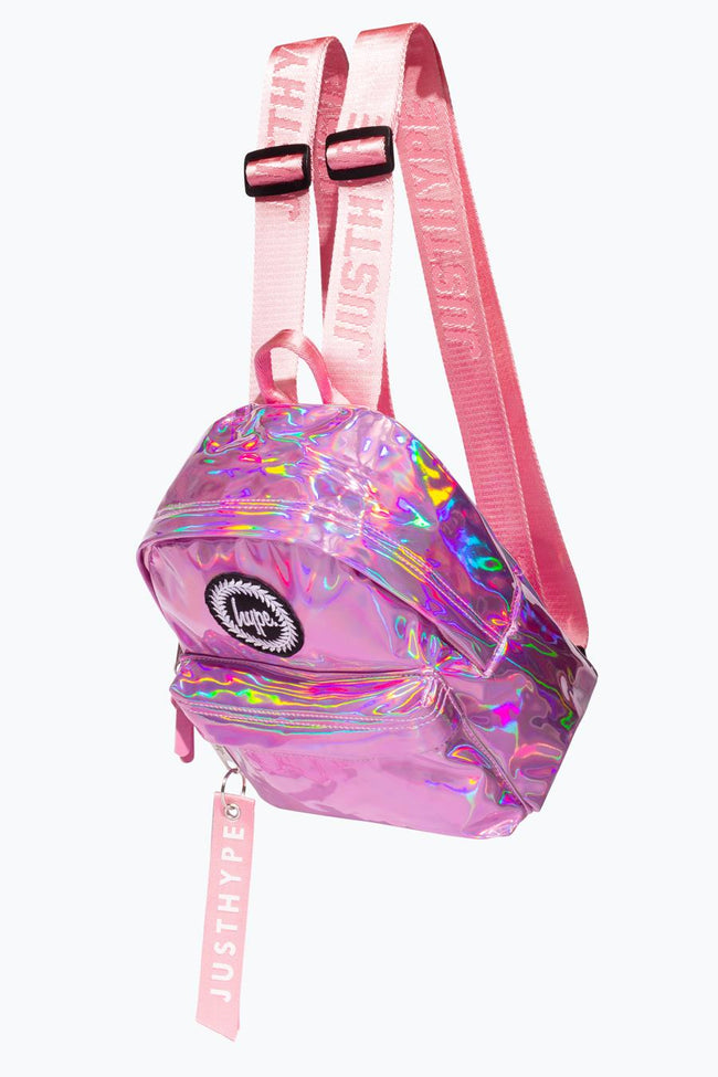 HYPE PINK HOLO MINI BACKPACK