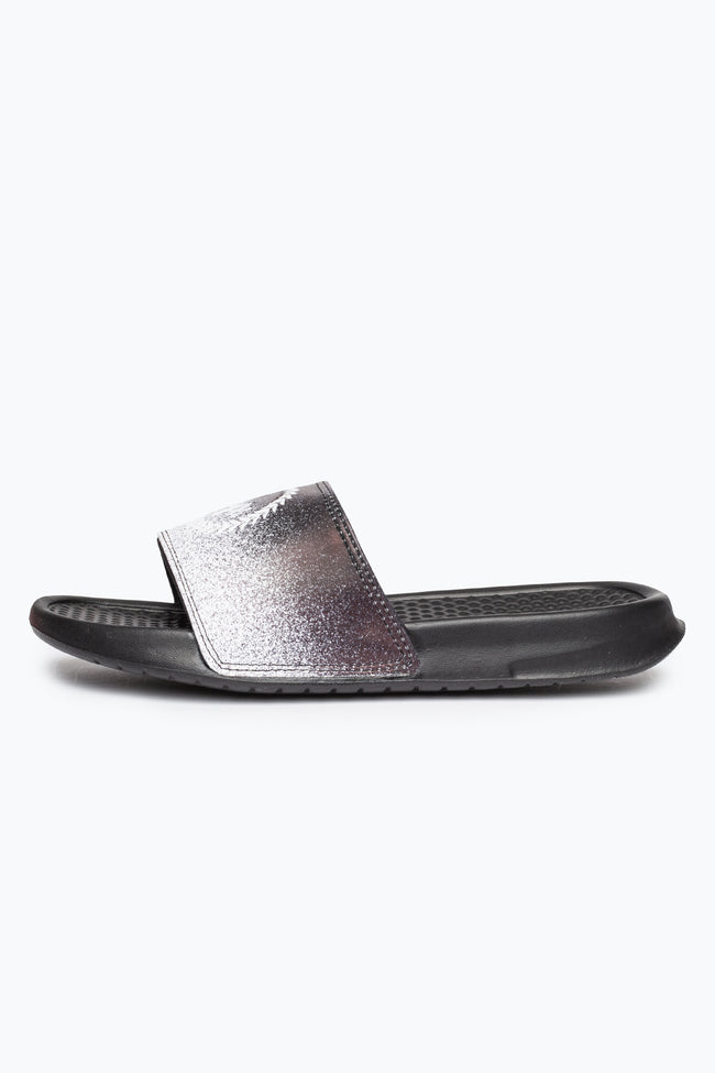 HYPE BLACK SPECKLE FADE CREST SLIDERS