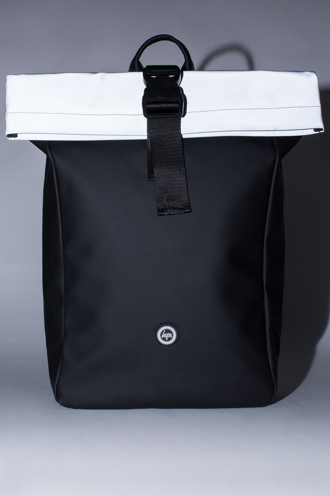 HYPE BLACK REFLECTIVE BACKPACK ROLLTOP