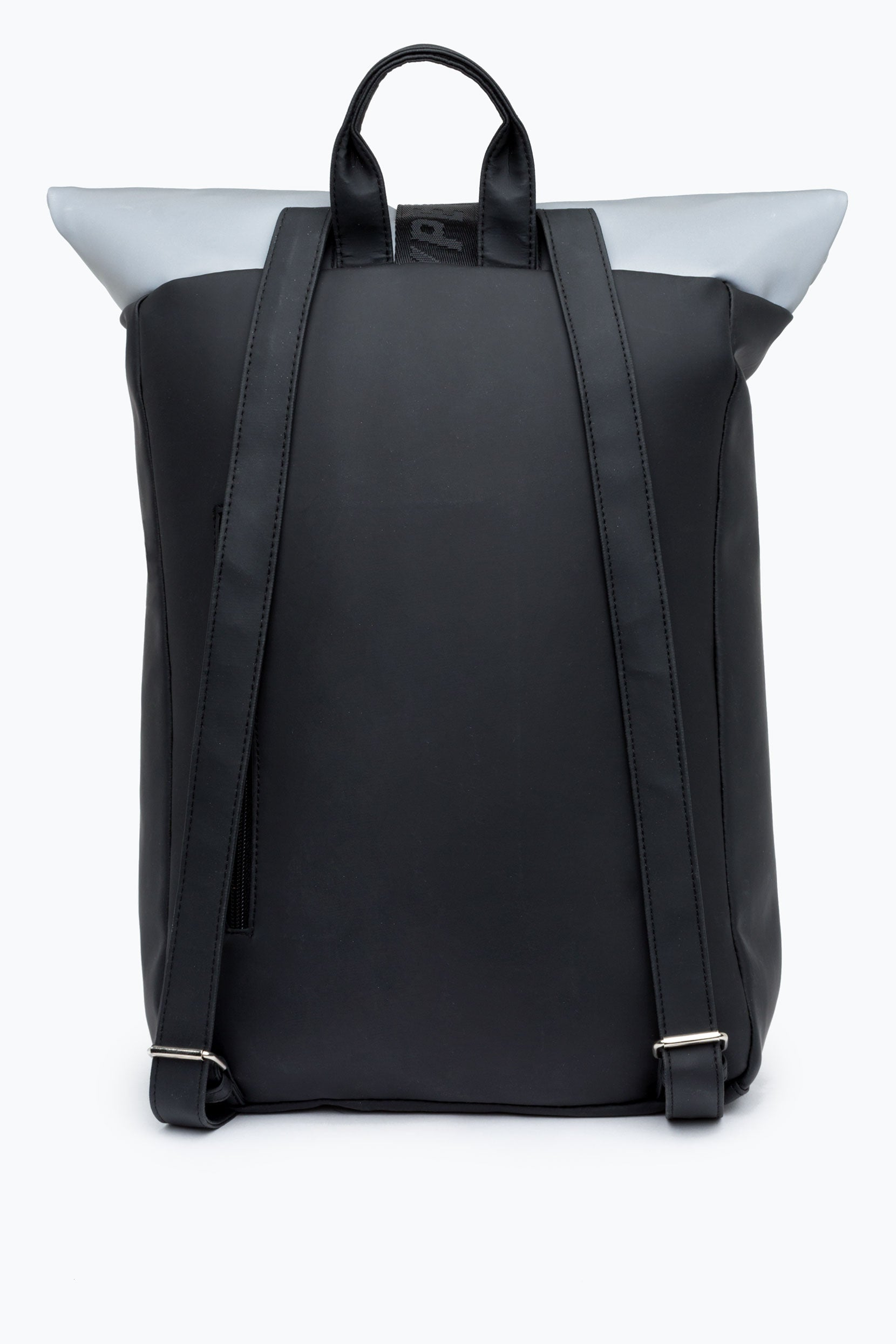 f44fd73162 HYPE BLACK REFLECTIVE BACKPACK ROLLTOP – JustHype ltd
