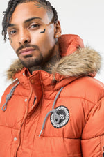 HYPE ORANGE EXPLORER MEN'S PUFFA JACKET