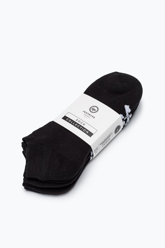 HYPE BLACK SCRIPT TRAINER SOCKS 3X PACK