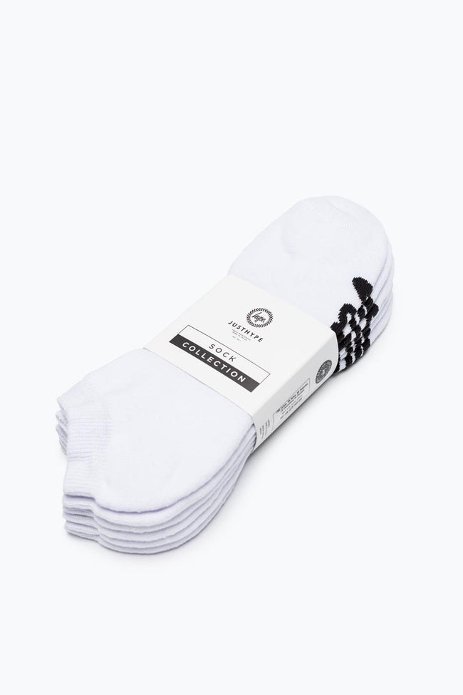 HYPE WHITE SCRIPT TRAINER SOCKS 3X PACK