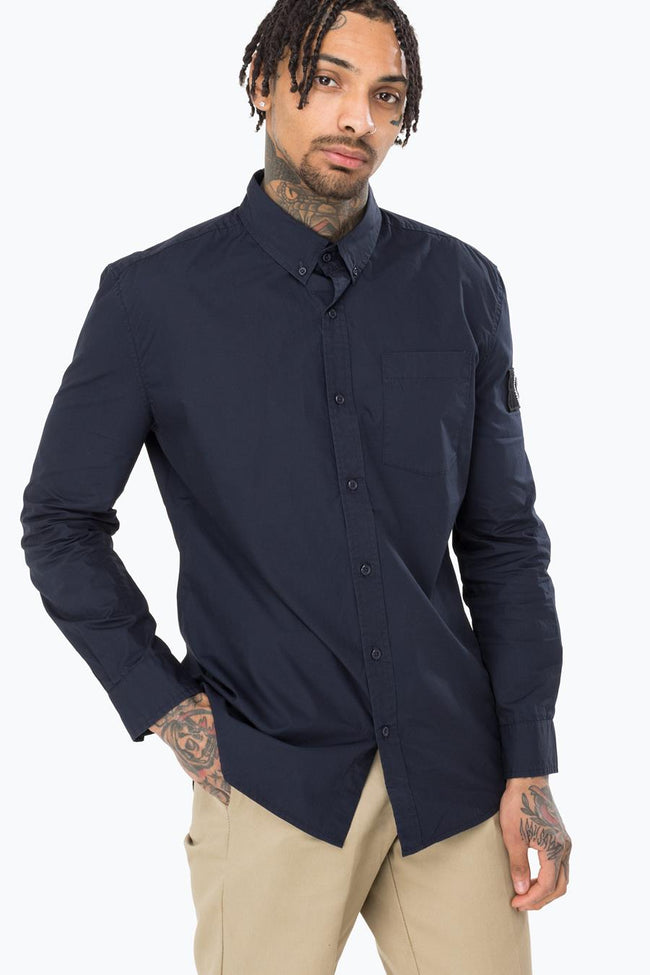 HYPE NAVY INSIGNIA MENS L/S T-SHIRT