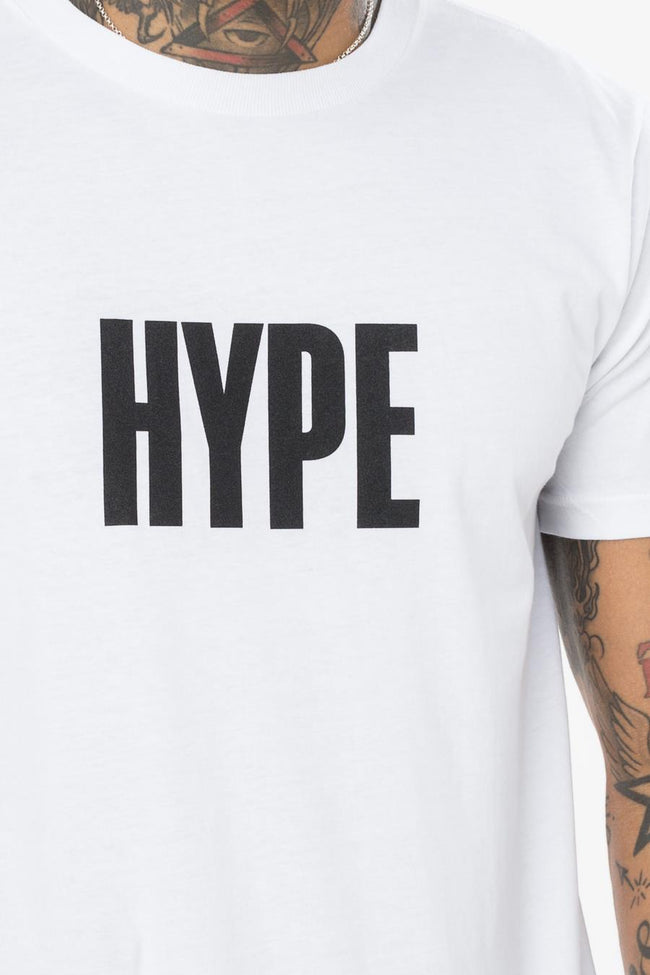 Hype White Block Hype Mens T-Shirt