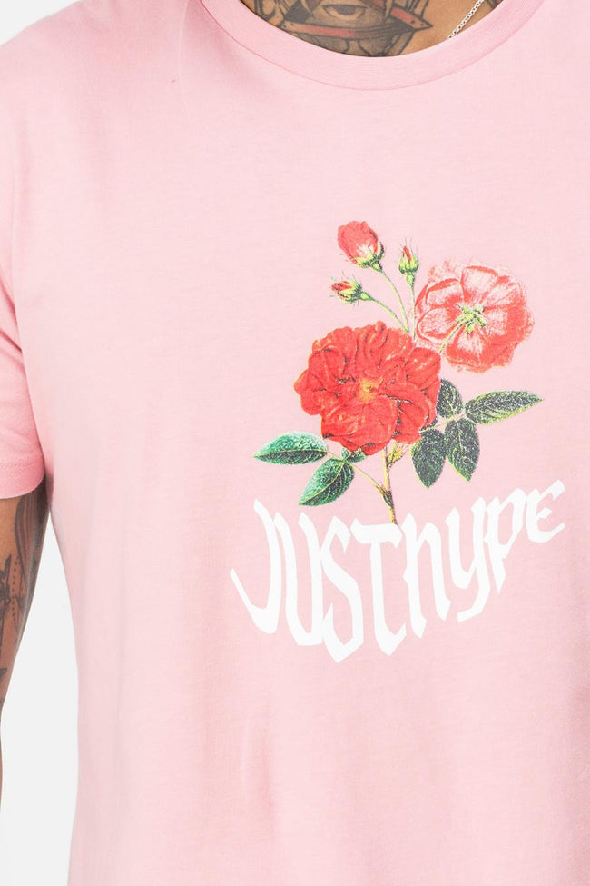 HYPE PINK WAVEY BLOSSOM MENS T-SHIRT
