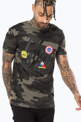 HYPE KHAKI CAMO PATCHES MEN'S T-SHIRT
