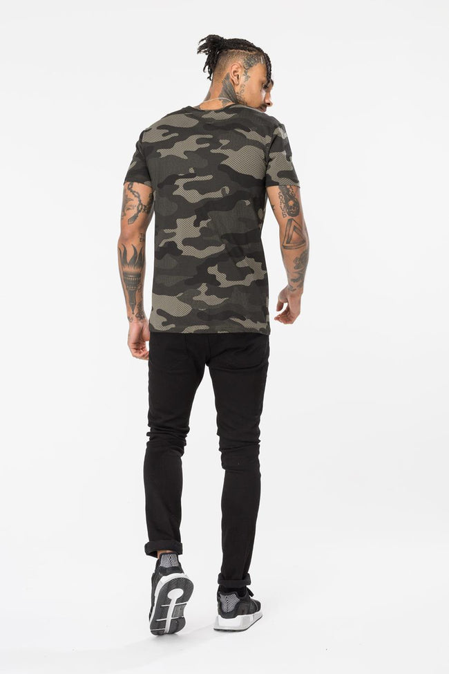 HYPE KHAKI CAMO PATCHES MENS T-SHIRT