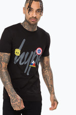 HYPE BLACK PATCHES MENS T-SHIRT