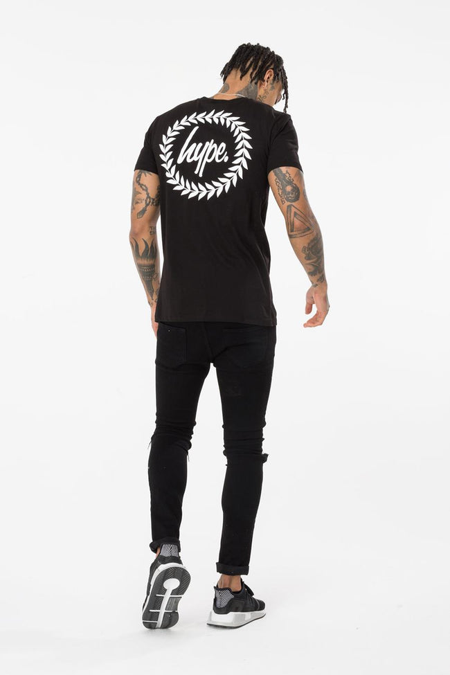HYPE BLACK BACK CREST MEN'S T-SHIRT
