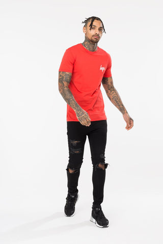 HYPE RED BACK CREST MENS T-SHIRT