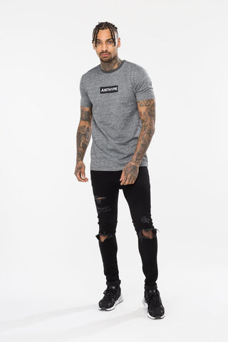 HYPE CHARCOAL BOX LOGO MENS T-SHIRT