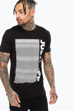HYPE BLACK WAVE MEN'S T-SHIRT