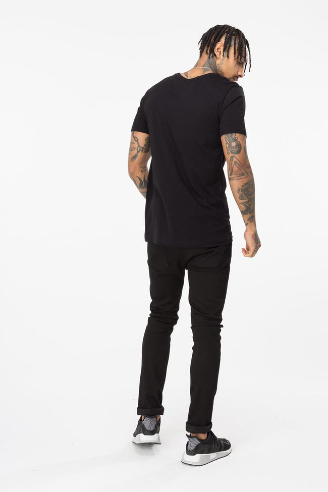 HYPE BLACK DRIP SCRIPT MENS T-SHIRT