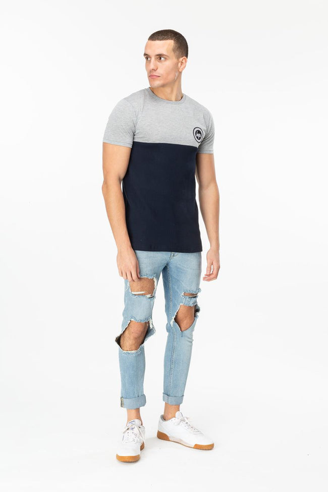 HYPE GREY BRADFORD MENS T-SHIRT
