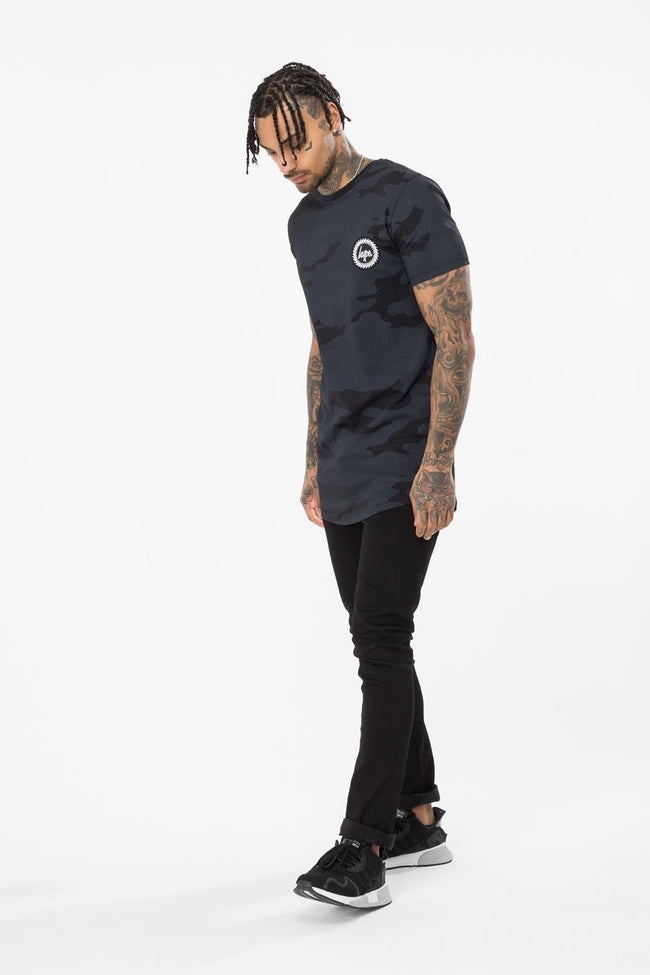 HYPE BLACK HALF TONE MEN'S T-SHIRT