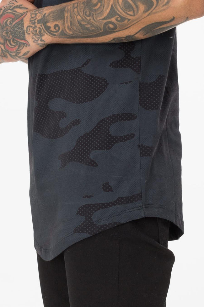 HYPE BLACK HALF TONE MENS T-SHIRT