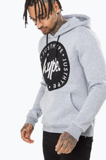HYPE GREY JH CIRCLE MENS PULLOVER HOODIE