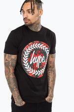 HYPE BLACK ROSES CIRCLE MENS T-SHIRT